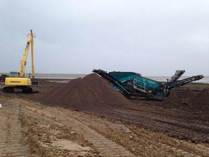 Rückbau einer Siloanlage mit Bauschuttaufbereitung im Bereich Wustrow
