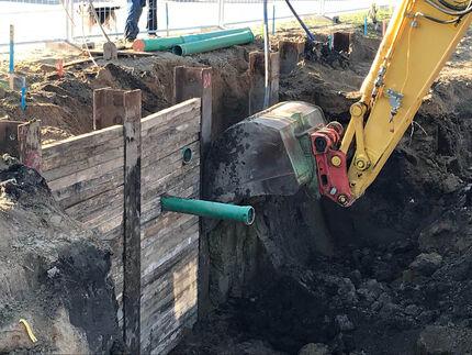 Sicherung einer Baugrubenwand